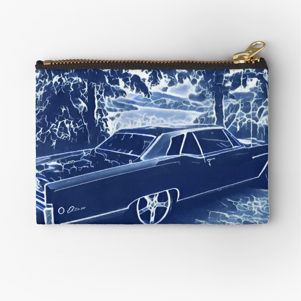 Buick Electra in Blue Electric Zipper Pouch