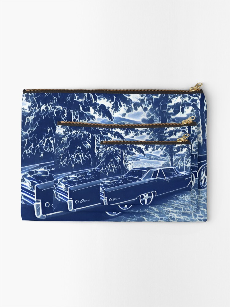 Alternate view of Buick Electra in Blue Electric Zipper Pouch