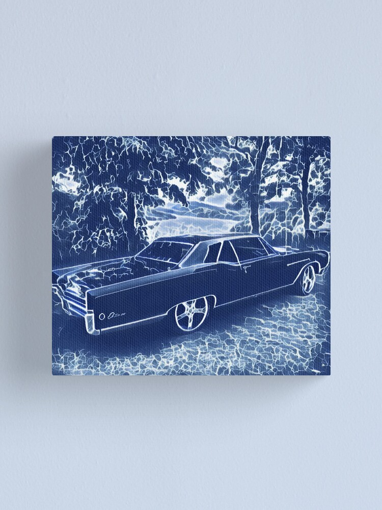 Alternate view of Buick Electra in Blue Electric Canvas Print