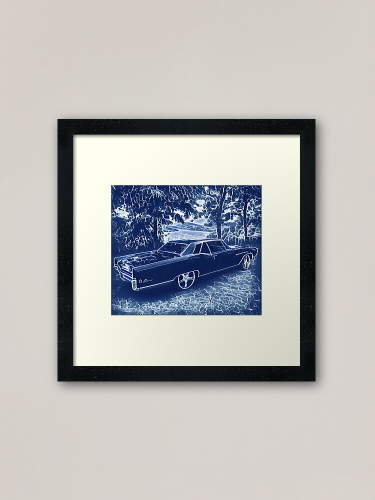 Alternate view of Buick Electra in Blue Electric Framed Art Print