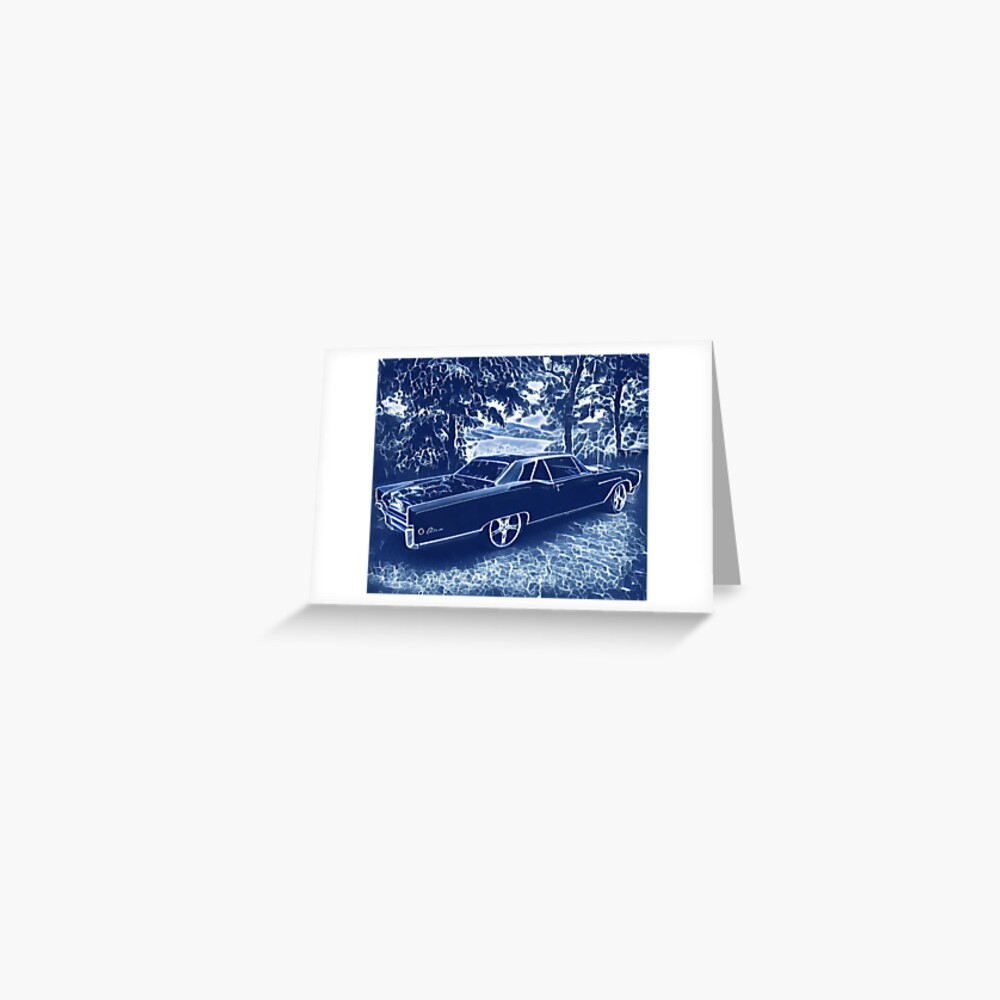 Buick Electra in Blue Electric Greeting Card