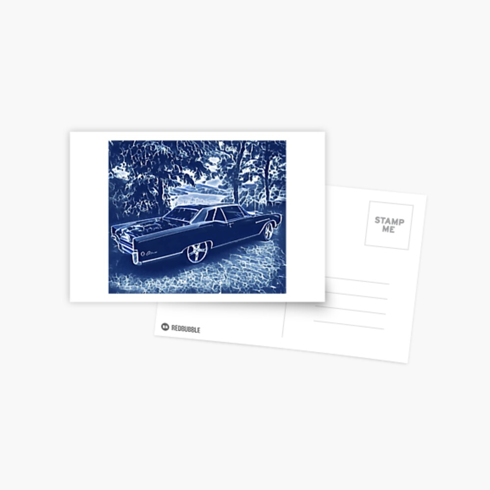 Buick Electra in Blue Electric Postcard