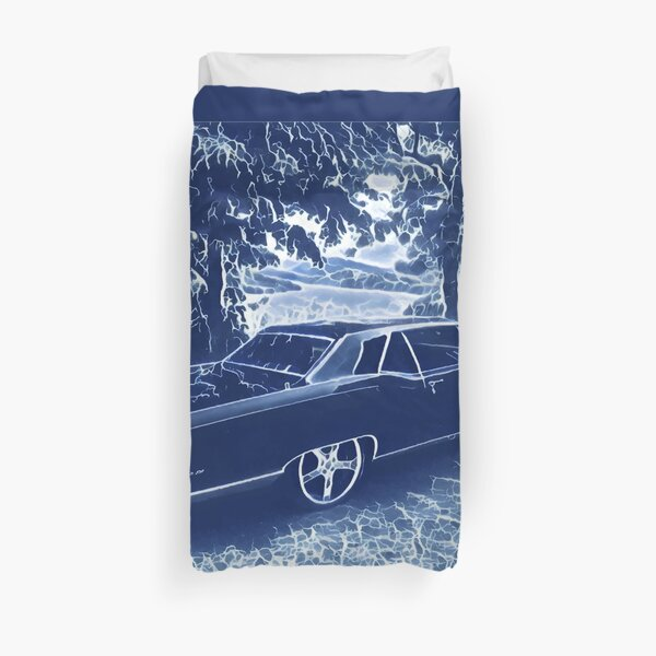 Buick Electra in Blue Electric Duvet Cover