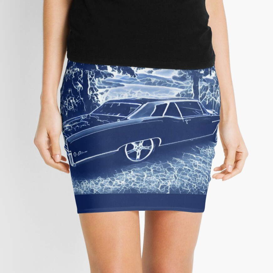 Buick Electra in Blue Electric Mini Skirt