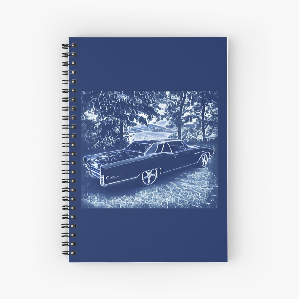 Buick Electra in Blue Electric Spiral Notebook