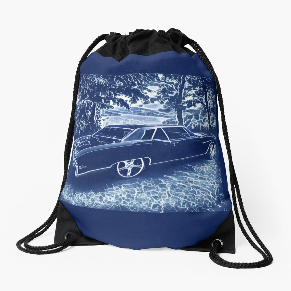 Buick Electra in Blue Electric Drawstring Bag