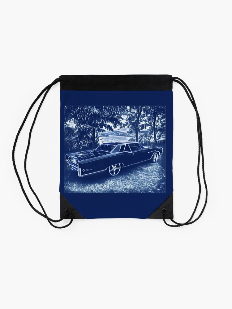 Alternate view of Buick Electra in Blue Electric Drawstring Bag