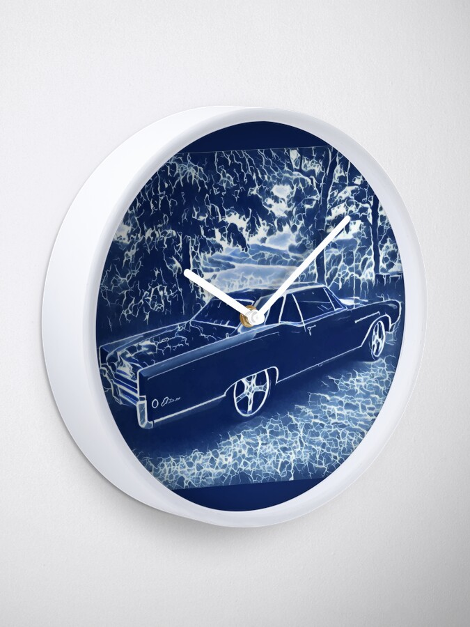 Alternate view of Buick Electra in Blue Electric Clock
