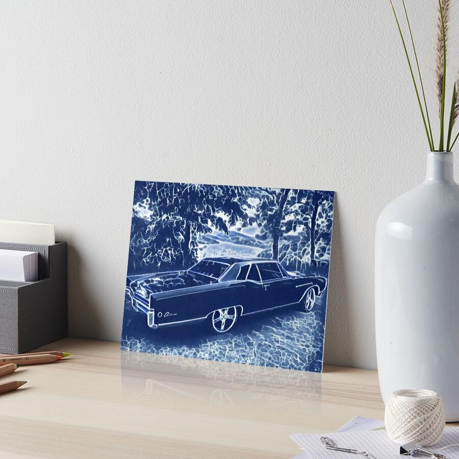 Buick Electra in Blue Electric Art Board Print