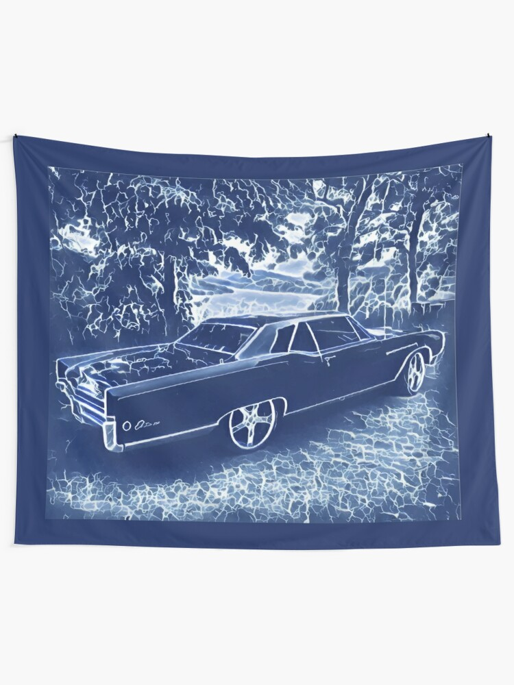 Alternate view of Buick Electra in Blue Electric Wall Tapestry