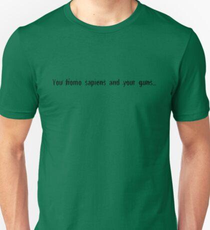 homo sapiens (black) T-Shirt