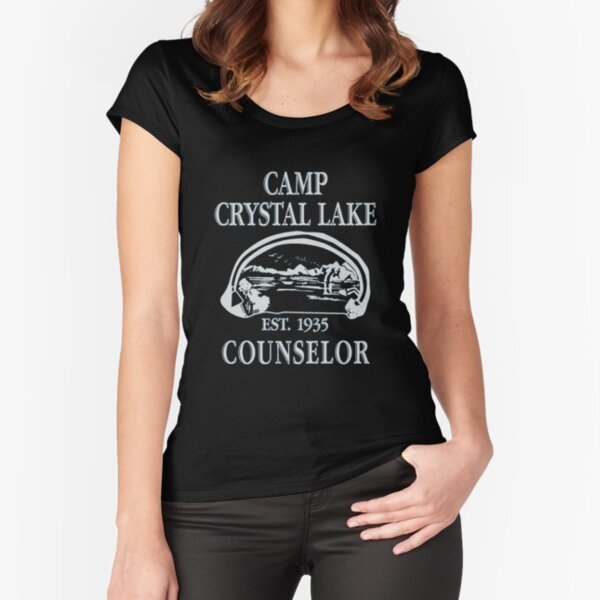 Camp Crystal Lake Counselor Fitted Scoop T-Shirt