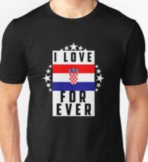 Croatia/Flag/Love Unisex T-Shirt