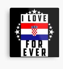 Croatia/Flag/Love Metal Print