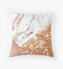 Layered rose gold Throw Pillow