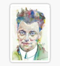 WOLFGANG PAULI - watercolor portrait.1 Sticker