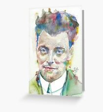 WOLFGANG PAULI - watercolor portrait.1 Greeting Card