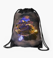 flyin elephant Drawstring Bag