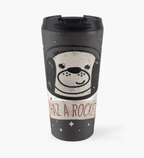 SPACE PUPPY HAZ A ROCKET! Travel Mug
