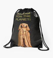 Scream For The Planet Drawstring Bag