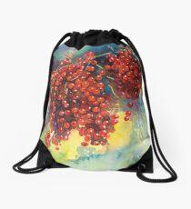 Currants Berries watercolor painting #2 Svetlana Novikova Drawstring Bag