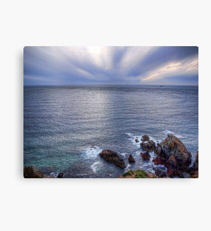 Some rocks, Some Water & Some Clouds - Alderney Canvas Print