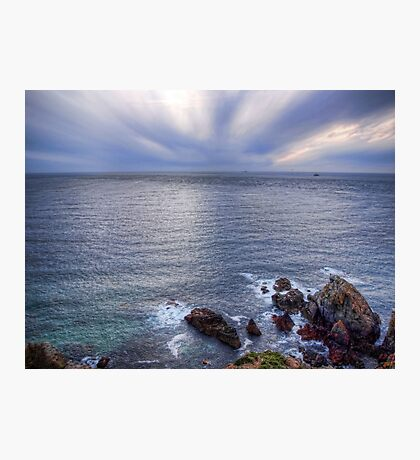 Some rocks, Some Water & Some Clouds - Alderney Photographic Print