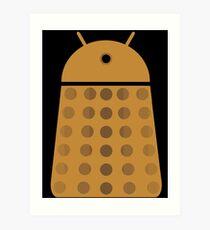 Droidarmy: Dalek - Dalek Gold Sticker Art Print