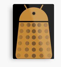 Droidarmy: Dalek - Dalek Gold Sticker Metal Print