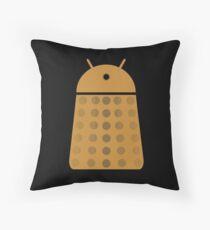 Droidarmy: Dalek - Dalek Gold Sticker Throw Pillow