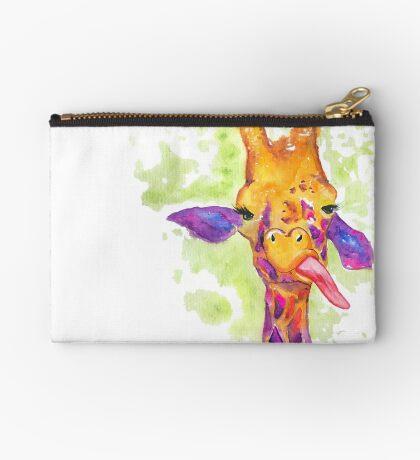 Watercolor Giraffe with Attitude Studio Pouch