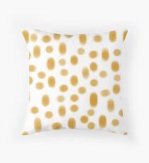 mustard safari spots Throw Pillow
