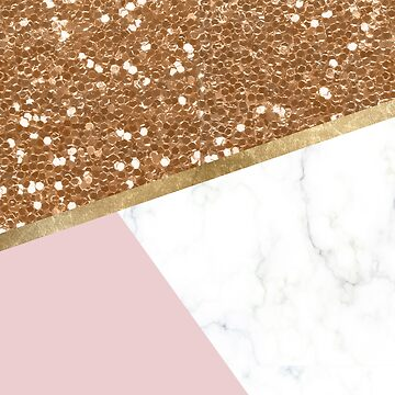 Glittering golden marble geo by peggieprints