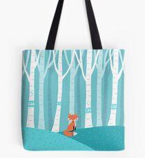 Fox - Birch Forest Tote Bag