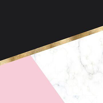 Glam blush marble geo by peggieprints