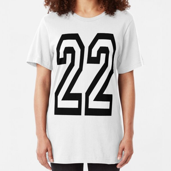 22, 22nd, TEAM, SPORTS, NUMBER 22, TWENTY, TWO, Twenty Second, Competition. Slim Fit T-Shirt