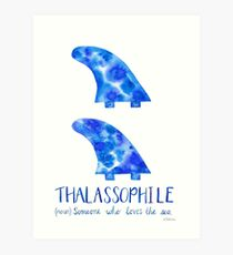 Surfboard Fins - Thalassophile Art Print