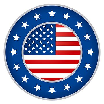 AMERICAN BADGE, SHIELD by TOMSREDBUBBLE