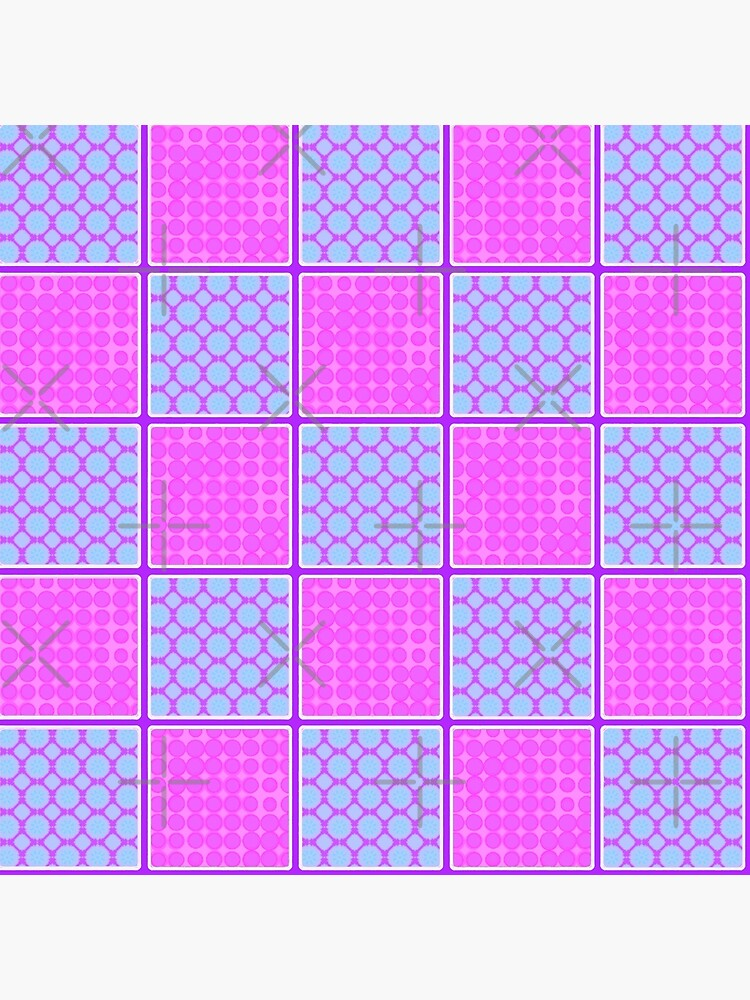 PINK AND PURPLE CHECK PATCHWORK DESIGN FOR ACCENTS IN  CHECKS WITH SQUARES AND SMALL POLKADOTS by ozcushionstoo