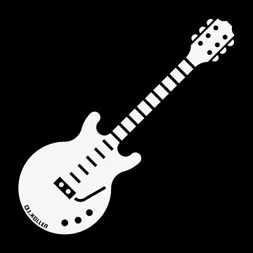 Electric Guitar (Solidbody Guitar / Rock Music / White) by MrFaulbaum