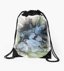Seaweed Blossom Alcohol Ink Drawstring Bag