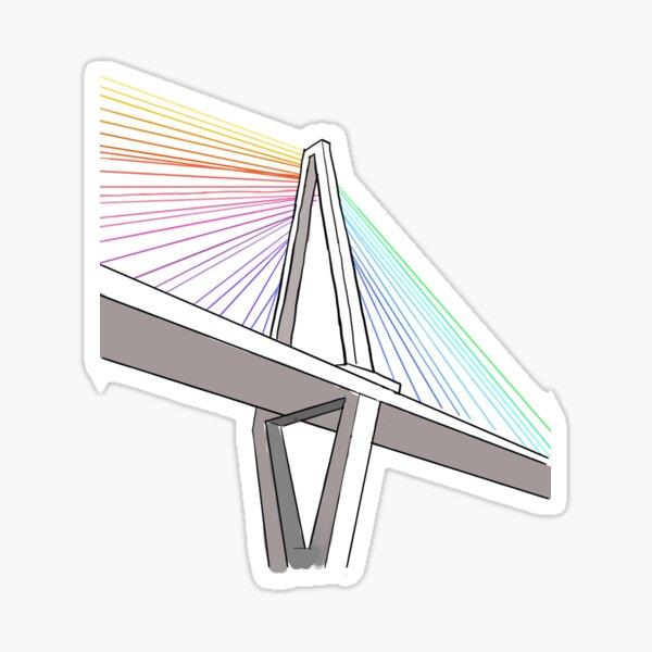 Rainbow Ravenel Bridge Sticker