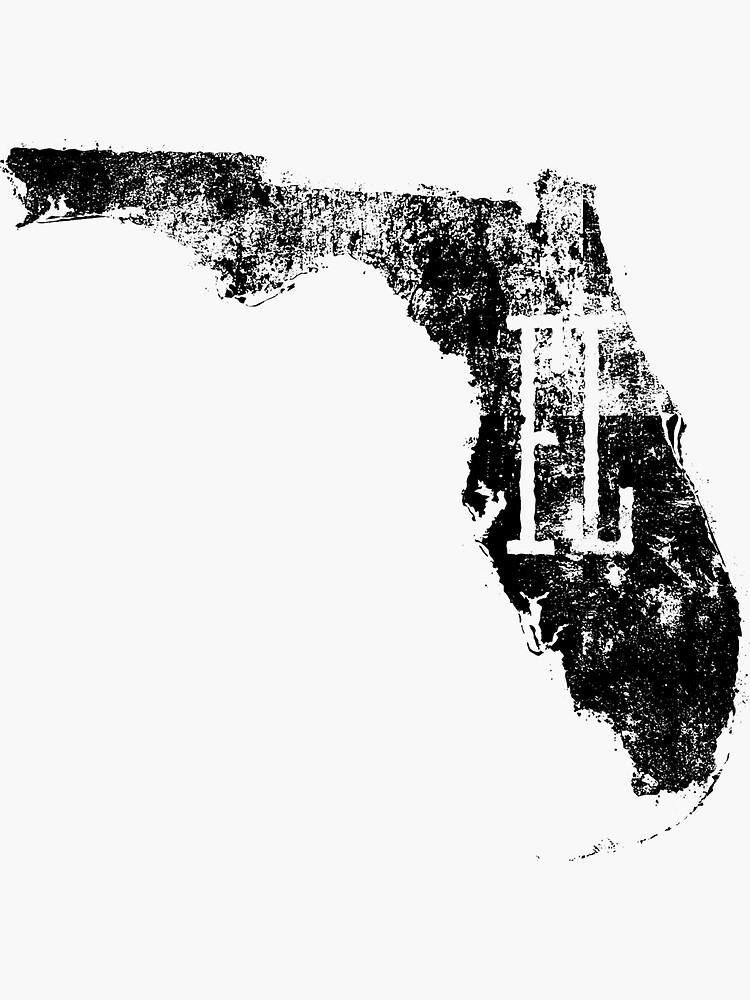 Quot Florida Distressed Map Fl Abbreviation Quot Sticker By
