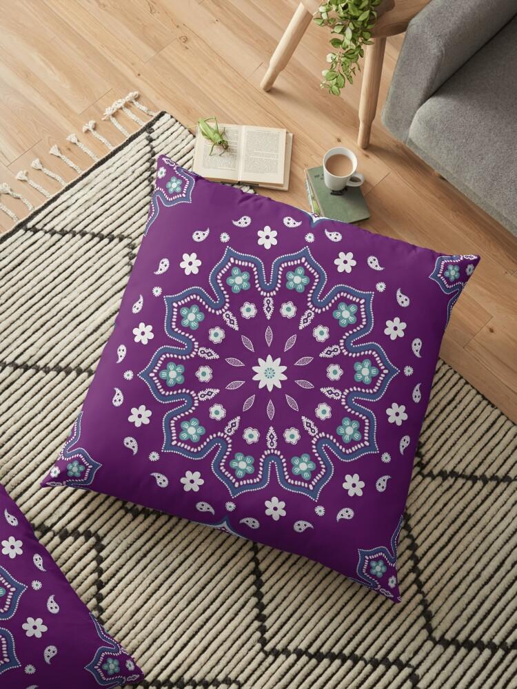 Purple Blue Mandala by Cristina Bianco Design
