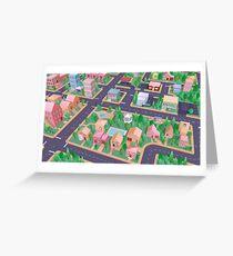 Vector City Greeting Card
