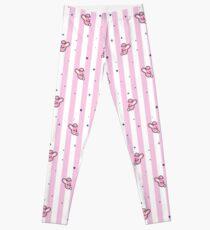 BT21 Cooky Striped Pajamas Pattern Leggings