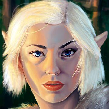 Elf at Dawn by georgiagoddard