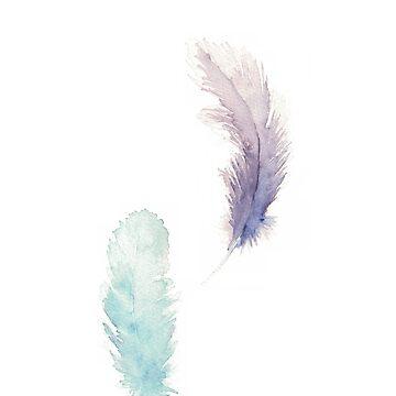 Feather by shashaluart