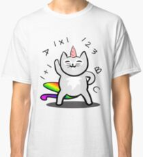 Unicorn Cat First Day In School Classic T-Shirt