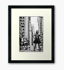 Fearless Girl  New York City Framed Print